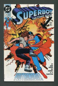 Superboy #3 (2nd Series) / 9.2 NM- - 9.4 NM   April 1990