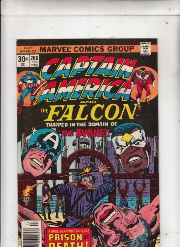Captain America #206 (Feb-77) VF/NM High-Grade Captain America