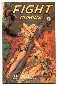 Fight Comics #78 1951- Tiger Girl- taillight cover F/VF