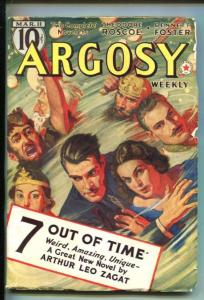 ARGOSY-03/11/1939-RED CIRCLE-RUDOLPH BELARSKI COVER-SCI-FI ISSUE-vf
