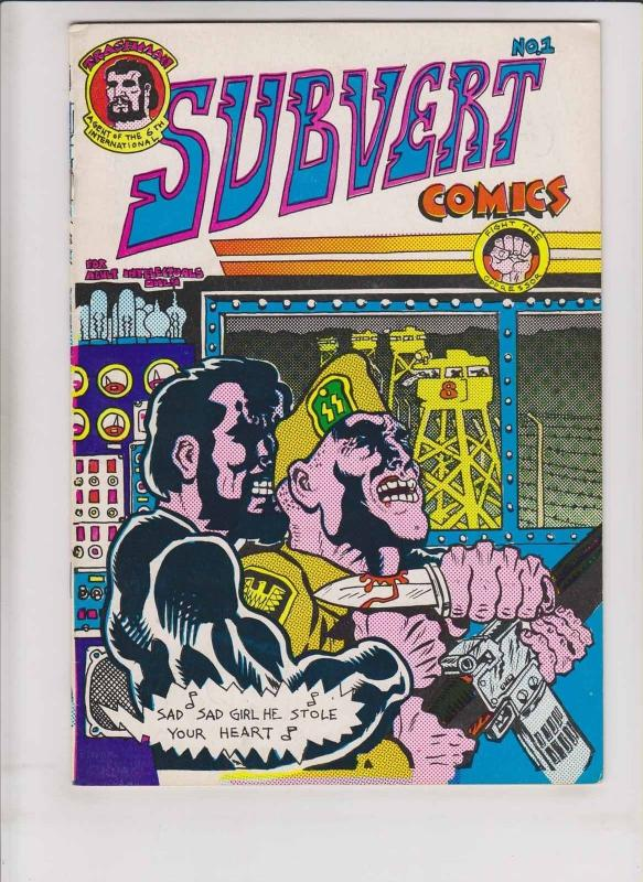 Subvert Comics #1 FN (3rd) print SPAIN RODRIGUEZ trashman rip off press