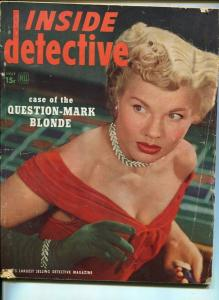 INSIDE DETECTIVE-JULY 1948-SPICY-MURDER-KIDNAP-RAPE-PAGANO COVER--good G