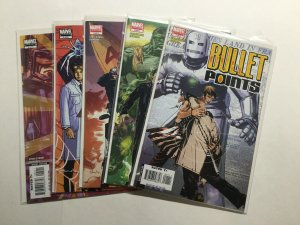 Bullet Points 1-5 1 2 3 4 5 Limited Series Run Set Lot Near Mint Nm Marvel