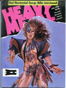 HEAVY METAL June July August 1985, Corben, Romero, Boris,Olivia, 3 issues in all