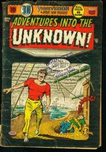 ADVENTURES INTO THE UNKNOWN #52 -VAMPIRE 3-D -EC SWIPE FR/G
