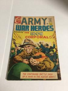 Army War Heroes 22 Vg Very Good 4.0 First Iron Corporal Charlton Silver Age