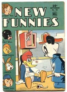 New Funnies #103 1945- OSWALD Woody Woodpecker VG