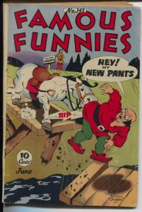 Famous Funnies #143 1946-Buck Rogers-Scorchy Smith-Invisible Scarlet O'Neil-VG-