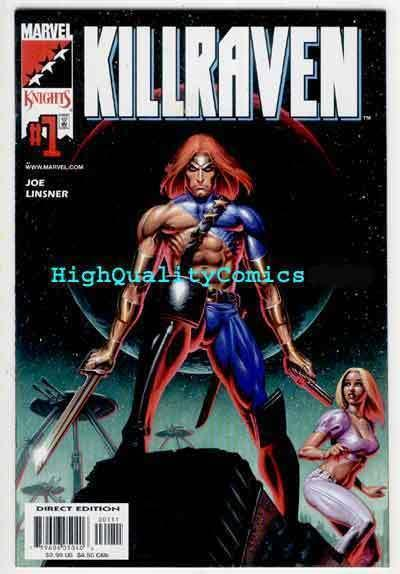 KILLRAVEN #1, NM+, Joseph Linsner, 2001, Sci-fi, Future, Gun, more JML in store