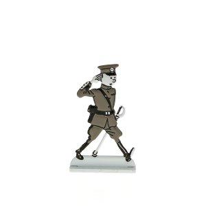 Silueta metalica Tintin coronel de 'La oreja rota' (ref. #29240)