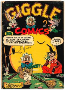 GIGGLE COMICS #35 (Nov-Dec 1946) VG+ Dan Gordon Superkatt Cover! Hultgren, Karp!