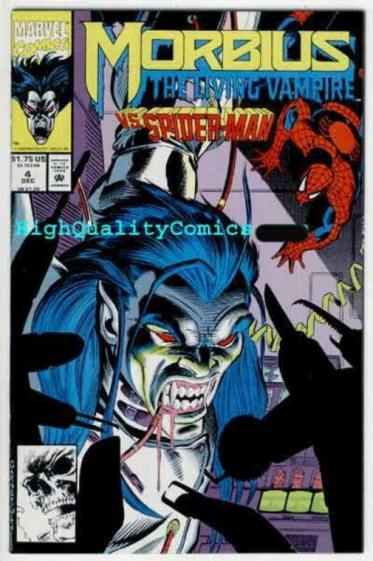 MORBIUS the Living VAMPIRE #1 2 3 4, NM+, Spider-man, Fangs, Web, w/ poster 1992