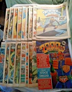 18x 2000AD 412-414 416 418-422 424-431 Sci-fi special 1985 Judge Dredd Comics