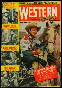 HOLLYWOOD PICTORIAL WESTERN #5 ROY ROGERS GENE ROCKY 50 FR/G