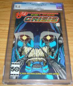 Crisis on Infinite Earths #6 CGC 9.6 key book 1ST WILDCAT george perez art dc