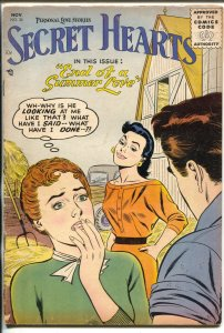 Secret Hearts #36 1956-DC-summer love cover & story-VG+