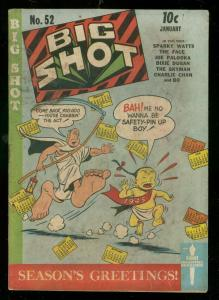 BIG SHOTS COMICS #52 1945-CHARLIE CHAN-SKYMAN-THE FACE- VG