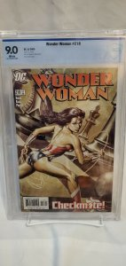 Wonder Woman #218 - CBCS 9.0 - J.G. Jones Cover - Checkmate!
