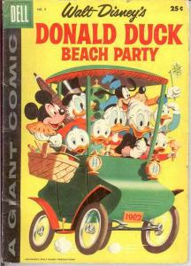 DONALD DUCK BEACH PARTY (1954-1959 DELL GIANT) 5 G-VG COMICS BOOK