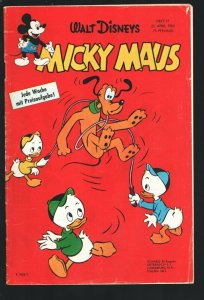 Mickey Maus #17 4/23/1960-Mickey Mouse & Donald Duck printed in GERMAN--Walt ...