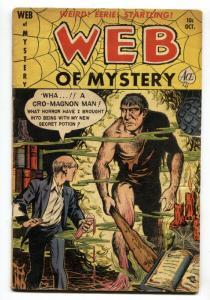 Web of Mystery #5 1950- Cro-Magnon Man cover- Pre-code horror VG-