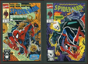 Spiderman #6 #7 (Todd McFarlane Hobgoblin SET )  9.6 NM+   1991