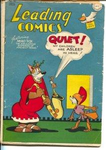 Leading #16 1945-DC--2nd funny animal isssue-Nero Fox-Spylot Bones Sherlock p...
