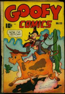 Goofy Comics #23 1947- Frazetta- Cactus Nedor Funny Animals G