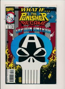 Marvel WHAT IF The PUNISHER Became CAPTAIN AMERICA #51 '93 F/VF (PF550)