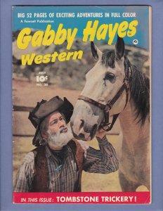 Gabby Hayes Western FN Cowboy Golden Age Fawcett Comics 1950