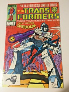 Transformers #3 Guest Starring Spider-Man! (1984) VF Condition! First Printing!
