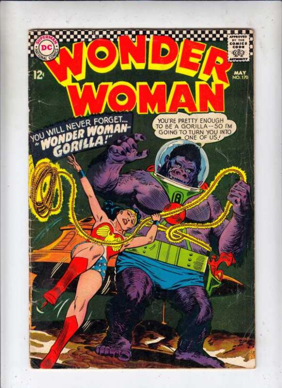 Wonder Woman #170 (May-67) VG Affordable-Grade Wonder Woman