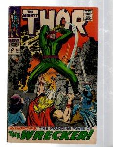 Mighty Thor # 148 FN Marvel Comic Book Loki Odin Asgard Sif Avengers Hulk RB8
