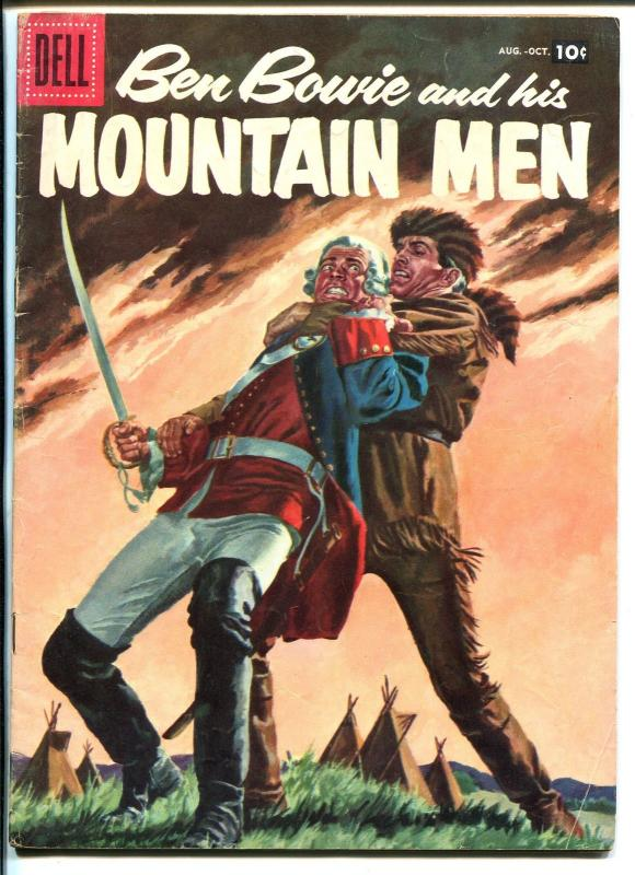 Ben Bowie and His Mountain Men #12 1957-Dell-Fight The Redcoats-VG