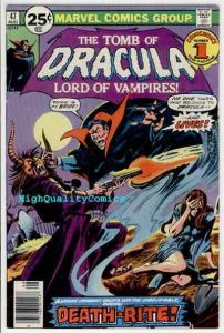 TOMB of DRACULA #47, Vampire, Death, Wolfman, 1972, FN+