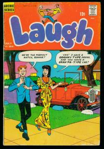 LAUGH #184 1966-ARCHIE COMICS- MOTOR CYCLE PIN UP- GOOD