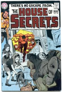 HOUSE OF SECRETS #84-1970 DC-NEAL ADAMS CVR-HORROR MYSTERY FN