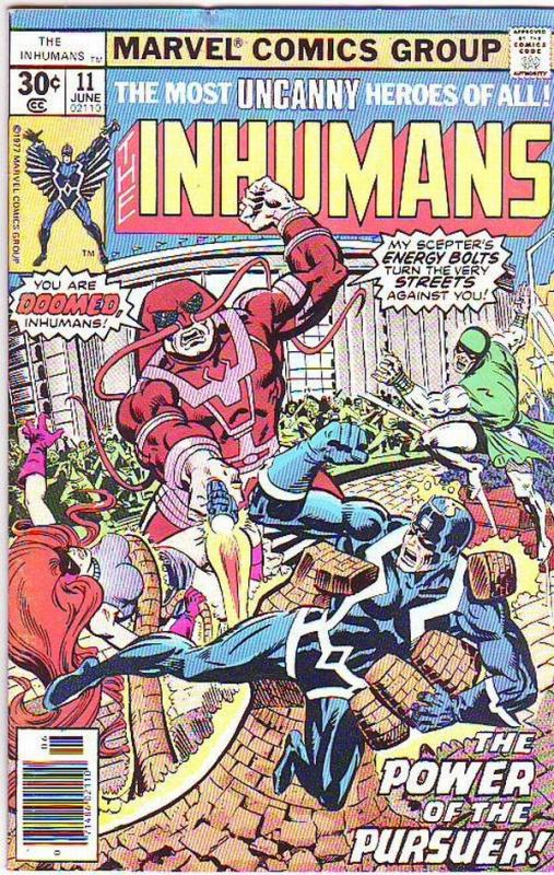 Inhumans, The #11 (Jun-77) VF High-Grade Black Bolt, Gorgon, Triton, Karnak, ...