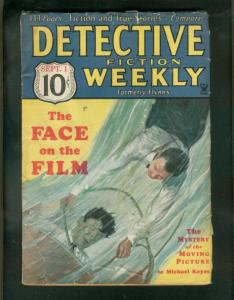 DETECTIVE FICTION WEEKLY PULP- 9/4/34-DROWNING COVER-M VG-