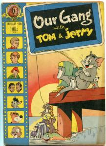 Our Gang #42 1948- Tom & Jerry fishing cover- Dell Golden Age VG