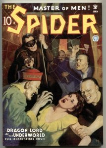 The Spider 6/1935 - Dragon Lord Of The Underworld - pulp reprint 2006