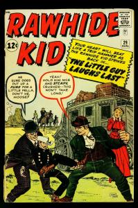 Rawhide Kid #29 1962- Jack Kirby cover- silver age Marvel- VG-