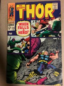 Mighty Thor (1966) 149 Fine+ (6.5) Origin of Inhumans Kirby