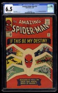 Amazing Spider-Man #31 CGC FN+ 6.5 Off White 1st Gwen Stacy!