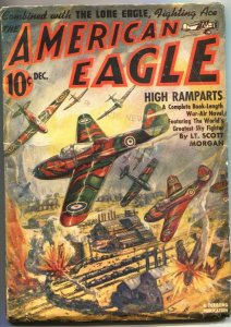 AMERICAN EAGLE-OCT 1941-RUDOLPH BELARSKI COVER-AVIATION HERO -- PULP