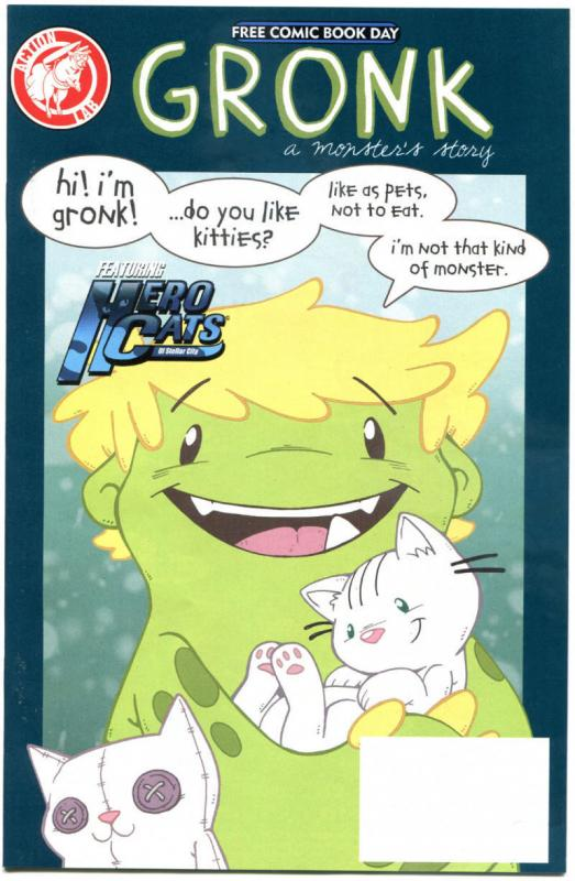 GRONK a MONSTER'S STORY, NM, FCBD, Cats, Kitten, 2015, more Promo/items in store