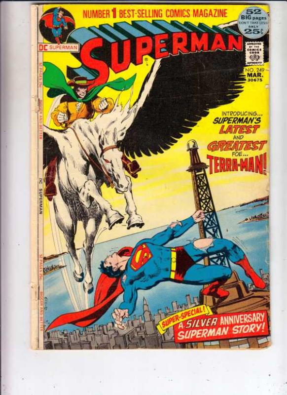 Superman #249 (Mar-72) VG Affordable-Grade Superman