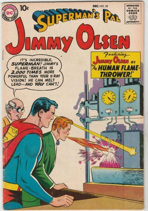 Superman's Pal Jimmy Olsen #33 strict FN/VF 7.0 High-Grade  Human Flame-Thrower