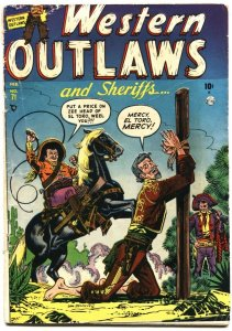 WESTERN OUTLAWS AND SHERIFFS #71-1952-BONDAGE-TORTURE-HORROR-WHIPPING