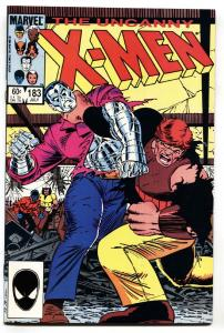X-MEN #183 1984-MARVEL-Bar fight between Peter and Kane NM-